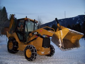 Snow plowing in Lake Wenatchee area